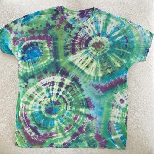 bright geodes tie dye shirt 2XL
