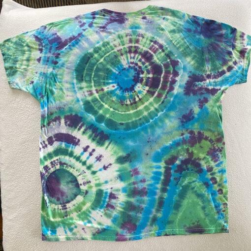 2XL bright geodes tiedye shirt