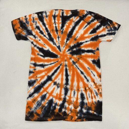 Halloween spiral tie dye t-shirt