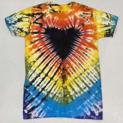 black tie dye heart t-shirt