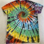 black rainbow spiral mens large shirt