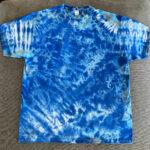blue water tie dye shirt