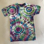 bright geode tie dye shirt - small