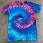 bright spiral tie dye shirt - medium
