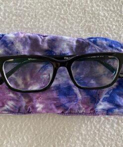 crunch purple tie dye eyglasses case