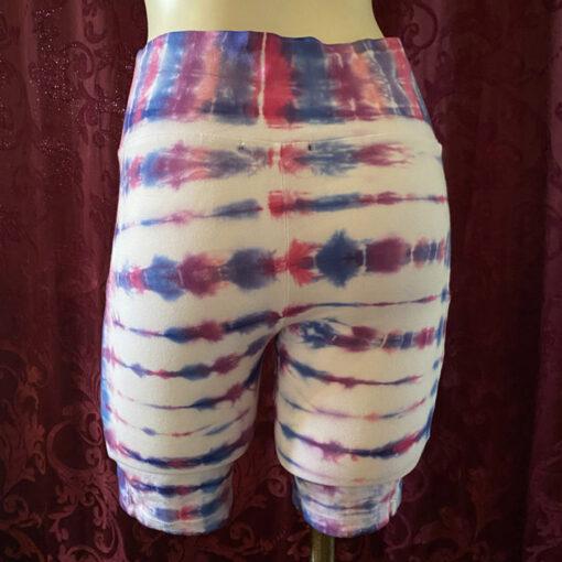 custom tie dye bike shorts pockets