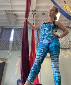 custom tie dye fitness unitard bodysuit onesie