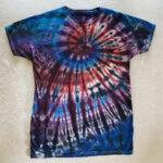 funky tie dye shirt