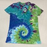 extra small womens v neck tie dye shirt