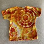 fire geodes kids small tie dye shirt