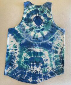 blue geode tie dye tank to