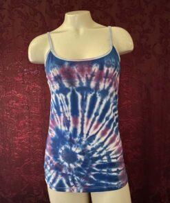 geode spiral blue purple tie dye womens large