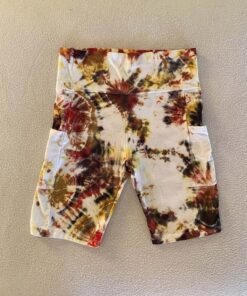 geode tie dye fitness shorts ladies
