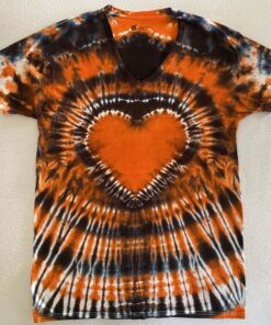 halloween heart tie dye shirt