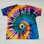 kids spiral tiedye shirt - small