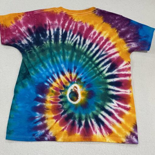 kids bright spiral tiedye shirt small