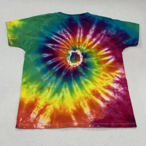 kids neon rainbow spiral tie dye shirt