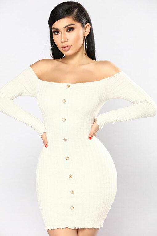 off shoulder sexy dress