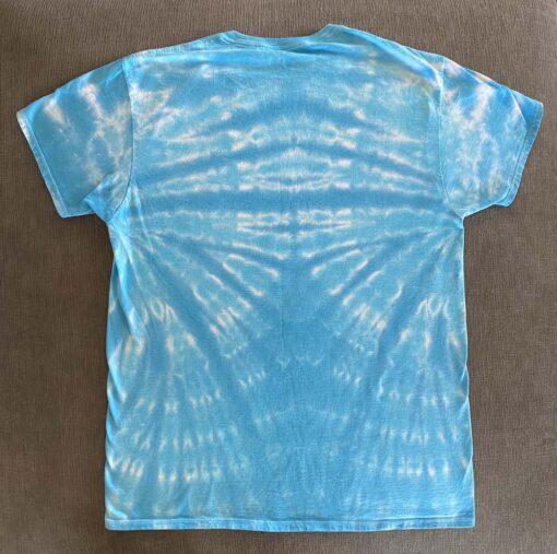 blue tie dye shirt men's large
