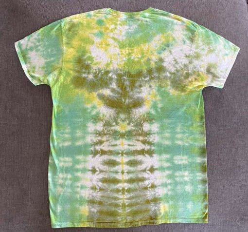 green tie dye t-shirt men's