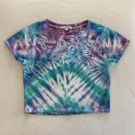 pleat tie dye crop top
