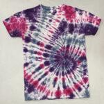 purple pink gray spiral tie dye shirt
