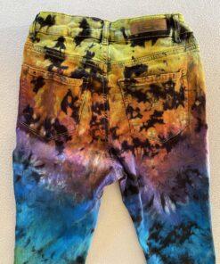 rainbow crunch tiedye jeans