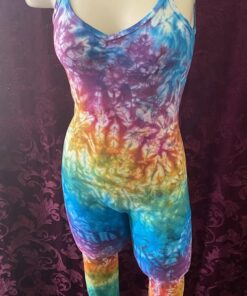 rainbow crunch tie dye unitard