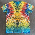 rainbow pleat tie dye mens large