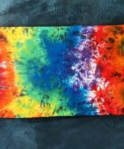 rainbow tie dye body pillowcase