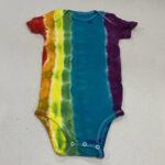 rainbow tiedye baby onesie