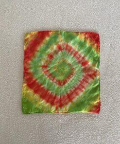 silk tie dye hanky rasta spiral