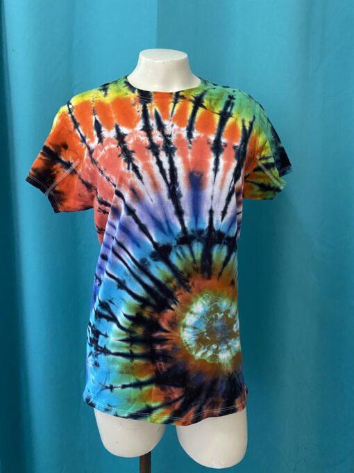 spiral geode rainbow tie dye