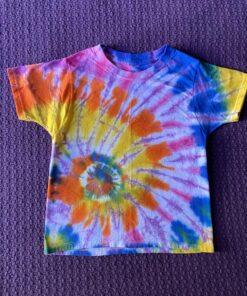 spiral geode rainbow tie dye shirt
