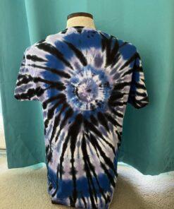 spiral geode tie dye t-shirt