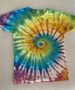 spiral rainbow tie dye kids