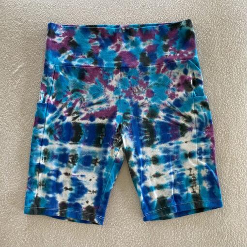 tie dye fitness bike shorts