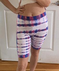tie dye fitness shorts
