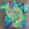 spiral tie dye shirt