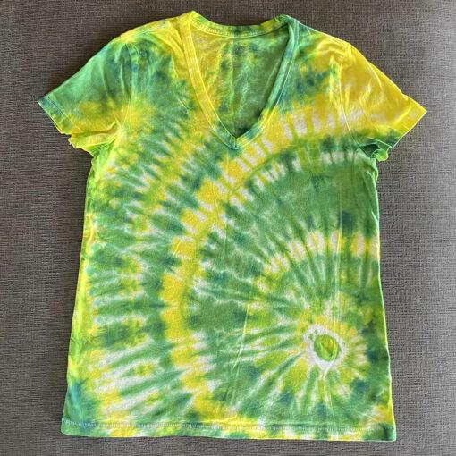 tie dye v-neck t-shirt