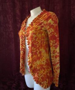 upcycled fire shirt