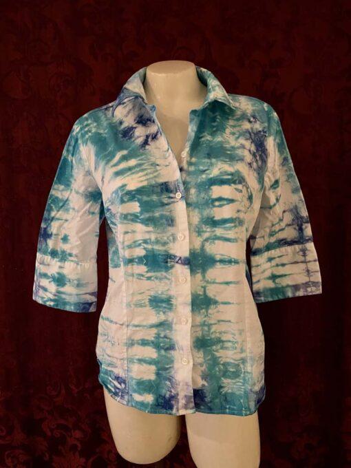 upcycled tiedye shirt xl ladies